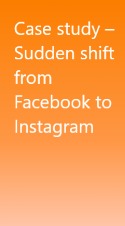 Case study – Sudden shift from Facebook to Instagram