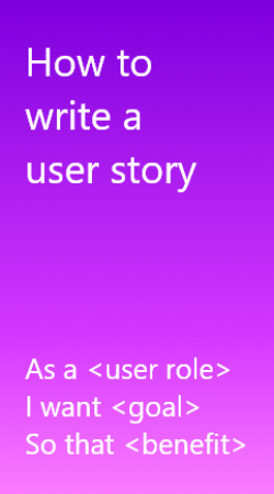 How to write a user story